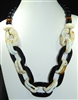 XN-1108 BEADED CHAIN ACRYLIC NECKLACE