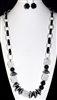 XN-1110 LONG ACRYLIC BEADED NECKLACE