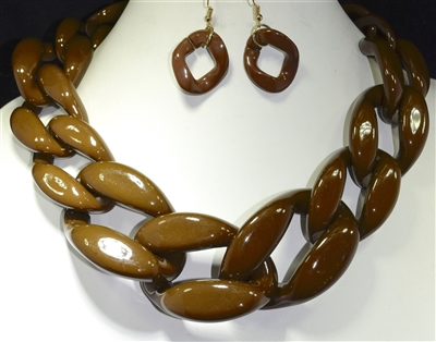 XN-234 CHAIN LINK NECKLACE SET