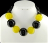 "XN-493 ACRYLIC ""SPHERES"" CHAIN NECKLACE"