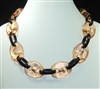 XN-648 CLEAR CHAIN ACRYLIC NECKLACE