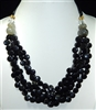 XN-687 BEADED ROPE ACRYLIC NECKLACE