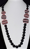 XN-777 LONG ACRYLIC BEADED NECKLACE