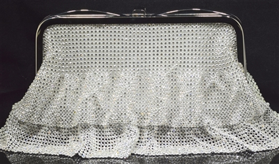 Y008 RHINESTONE SKIRT EVENING BAG