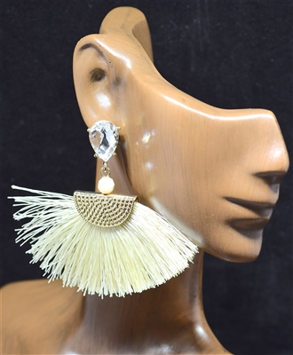 ZQE1938 FAN TASSEL EARRINGS