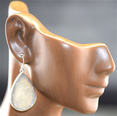 ZQE2554 Granite Stone Teardrop Earrings