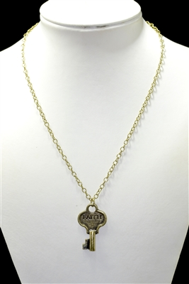 ZQN2735-FA ANTIQUE HAMMERED SMALL NECKLACE