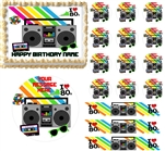 Awesome 80's RETRO THEME 80's Party Edible Cake Topper Image Frosting Sheet - All Sizes!