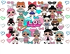 LOL Surprise Dolls Edible Cake Topper Image Frosting Sheet Cupcakes