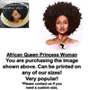 African Queen Princess Afro EDIBLE Cake Topper Image African Woman Cake Afro