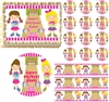 Girls Bowling Party Theme Edible Cake Topper Frosting Sheet - All Sizes!