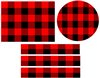Red and Black Buffalo Check Plaid Pattern Edible Cake Topper Image, Cupcakes, or Cake Strips, Buffalo Plaid Cake, Buffalo Check Cake Wraps