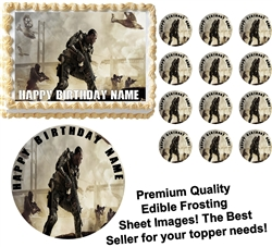 CALL OF DUTY Advanced Warfare Edible Cake Topper Image Frosting Sheet-All Sizes!