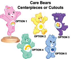 Care Bears Centerpieces with Stand OR Cutouts, Care Bears Party Decoration