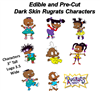 Pre Cut African American Rugrats Edible Cake Cupcake Stickers Decals