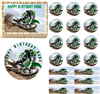 Green Motocross Dirt Bike Racing Edible Cake Topper Image Cupcakes Party Image