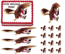 Eagle Scout Court of Honor Ceremony Eagle Fly Edible Cake Topper Frosting Sheet - All Sizes!