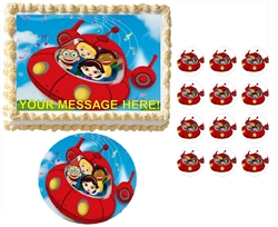 Little Einsteins Rocket Ship Music Notes Edible Cake Topper Frosting Sheet - All Sizes!