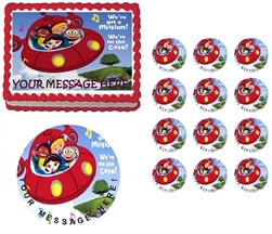 Little Einsteins Rocket Ship Edible Cake Topper Frosting Sheet - All Sizes!