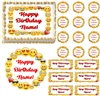 Emojis Border Emoticons Edible Cake Topper Image Cake Decoration Emoji Faces