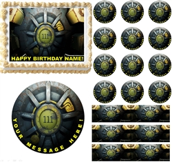 Fallout 4 Vault Gaming Edible Cake Topper Image Frosting Sheet - All Sizes!