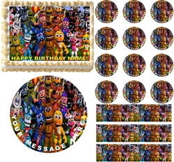 FIVE NIGHTS AT FREDDY'S World Edible Cake Topper Image Frosting Sheet NEW