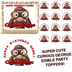 Curious George Party Edible Cake Topper Frosting Sheet - All Sizes!