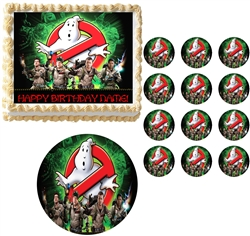 Ghostbusters Who You Gonna Call Edible Cake Topper Frosting Sheet - All Sizes!