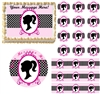 Girl Silhouette Barbie Inspired Edible Cake Topper Image Frosting Sheet - All Sizes!