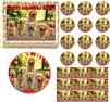 GOLDEN RETRIEVER Dog Puppy Family Edible Cake Topper Image Frosting Sheet - All Sizes!