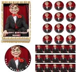 GOOSEBUMPS SLAPPY Dummy Doll Edible Cake Topper Image Frosting Sheet Cake Decoration Goosebumps