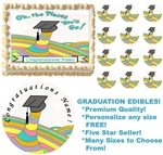 OH THE PLACES YOU'LL GO Graduation Edible Cake Topper Image Frosting Sheet NEW