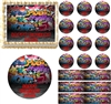 Grunge Graffiti Wall Edible Cake Topper Image Cupcakes Graffiti Edible Image