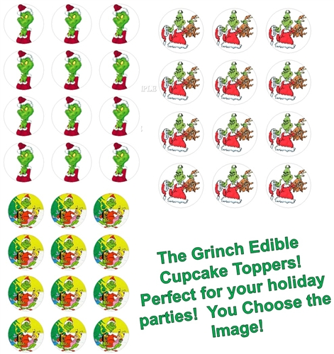 The Grinch Max Cindy Lou Who Edible Cupcake Toppers 12 Per