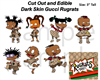 Pre Cut African American Gucci Rugrats Edible Cake Cupcake Stickers Decals