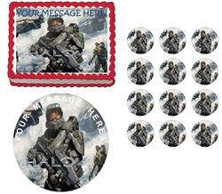 Halo 4 Fighting Edible Cake Topper Frosting Sheet - All Sizes!