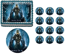 Halo 4 Master Chief Edible Cake Topper Frosting Sheet - All Sizes!
