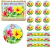 Heavenly Hibiscus Floral Edible Cake Topper Image Frosting Sheet Cupcakes