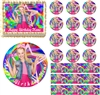 JoJo Siwa Rainbow Colors EDIBLE Cake Topper Cupcakes Sugar Sheet Decoration