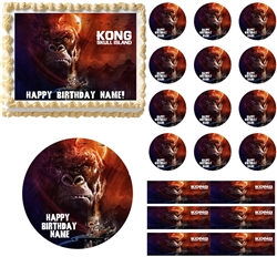King Kong Skull Island Edible Cake Topper Image Frosting Sheet Cake Decoration