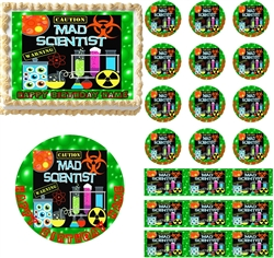 MAD SCIENTIST Bubbling Potion Edible Cake Topper Image Frosting Sheet Decoration