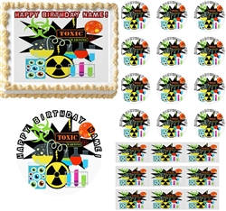 MAD SCIENTIST Theme Party Edible Cake Topper Image Frosting Sheet Mad Science