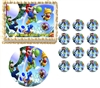 Super Mario Luigi Yoshi Edible Cake Topper Frosting Sheet - All Sizes!