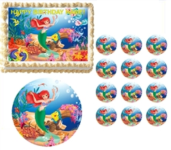 Little Mermaid ARIEL Edible Cake Topper Frosting Sheet - All Sizes!