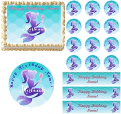 Mermaids Under the Sea Edible Cake Topper Image Cake Decoration Mermaid Cupcakes