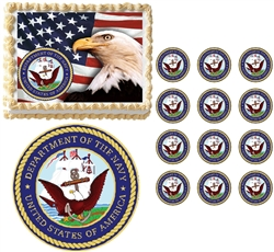 United States NAVY Seal Military Edible Cake Topper Image Frosting Sheet - All Sizes!