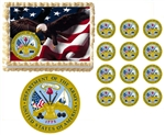 United States Army Seal Eagle Military Edible Cake Topper Frosting Sheet - All Sizes!