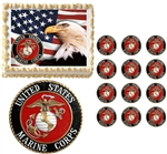 United States Marine Corps Seal Eagle Military Edible Cake Topper Frosting Sheet - All Sizes!