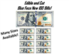 Blue Face 100 Dollar Bills EDIBLE Cake Images, Birthday Bills Cake, 100 Dollar Bills Cake, Money Cake, Money Decals for Cake, Edible Money