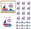 Sailboat Whale Nautical Theme Edible Cake Topper Image Cake Decoration Cupcakes